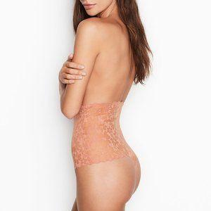 VS L Thong Panty High-Waist No Show Mesh Ros…
